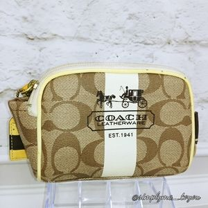 Coach Signature CC Canvas Makeup Pouch